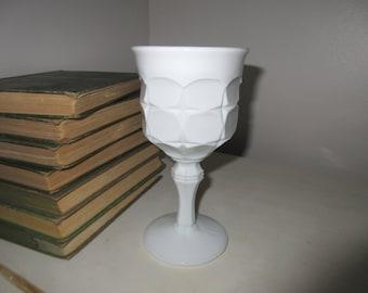 Indiana Glass Co. Milk Glass Constellation Pattern goblet Glassware Goblet Festive color Goblet,Wine Goblet,Fiesta,color,crystal,Vintage