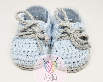 Baby Boy Booties-crochet shoes