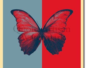 Butterfly Original Art Print - Photo Poster Gift