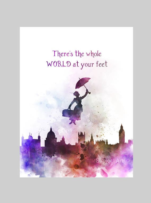 ART PRINT Mary Poppins Quote 3 Illustration Disney Home
