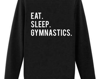 Gymnast Sweatshirt, Gymnastics gift, Eat Sleep Gymnastics sweater - 612