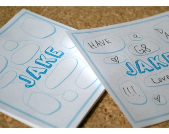 Lunch Box Note Pad with Speech Bubbles