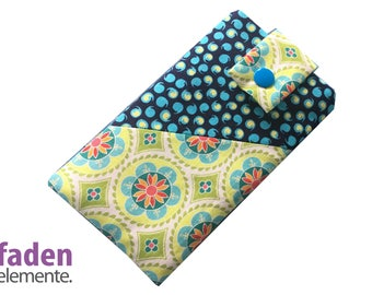 Smartphone pouch, Cellphone sleeve patchwork