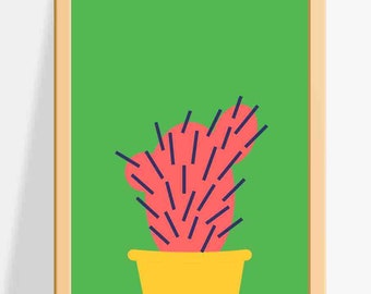 Printable Nursery wall decor for Kids / Cactus Prints / A fun and colourful Wall Art for Children
