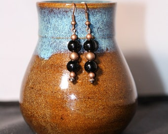 Obsidian Earrings - Item 1054