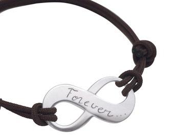 Sterling Silver infinity personalized bracelet