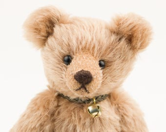 Handmade Teddy Bear made with Brown German Mohair