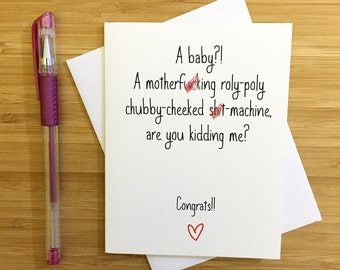 Baby Shower, Funny Baby Card, Expecting Card, Pregnancy Card, Pregnancy Congrats Card, Baby Congratulations, Congrats Card, New Baby Card