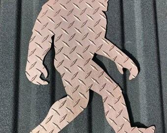Big foot, bronze. 3/16 inch aluminum diamond plate