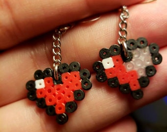 Geek Pixel Heart Legend of Zelda Inspired Earrings