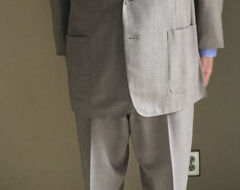 Vintage 1950s Suit With Fabulous Baggy Pleated Pants - Madison Avenue Ad Exec
