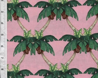 "Michael Miller ""Paradise Cove"" Hearts of Palms Pink Fabric"