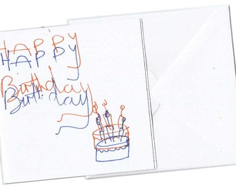 Happy Birthday Card | Cute Little Birthday Card | Teacup Illustrations