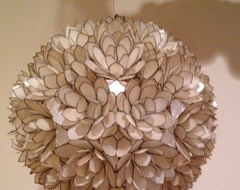 Capiz shell lighting etsy vintage capiz shell chandelier aloadofball Choice Image