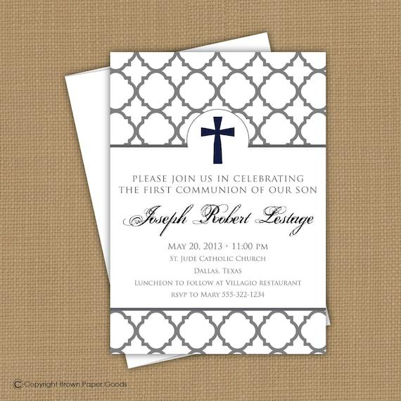 Confirmation invitation first communion invitation baptism stopboris Images
