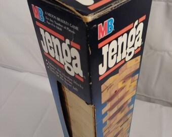 Vintage 80s Milton Bradley Jenga Board Game