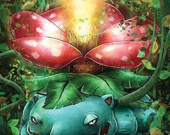 Grass Plant Dinosaur Fan Art Glossy Poster Print - Free USA Shipping