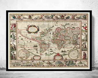 Old World Map Antique Atlas 1640