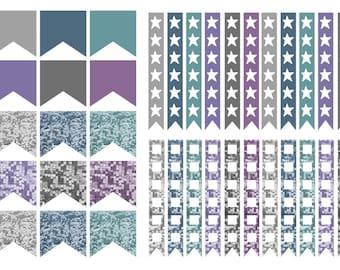 Sequin Checklist stickers (planner stickers)