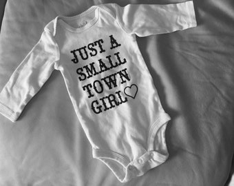 Just a small town girl onesie