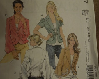 McCalls M5327, size 4-10, UNCUT sewing pattern, craft supplies, unlined jackets, misses, womens