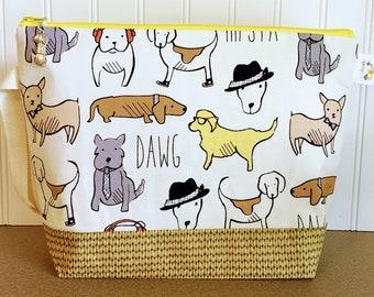 Fun medium size Hipsta Dawg Project Bag