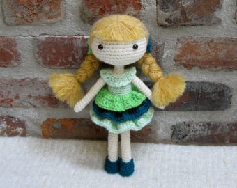 PIA - Amigurumi Doll Crochet Doll finished - Plush Doll Girl