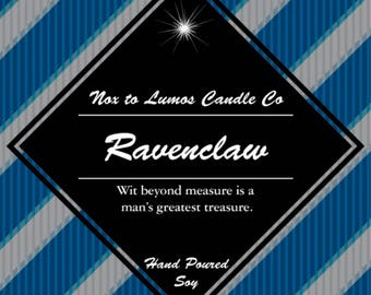 Ravenclaw (label will be similar to the other house labels)