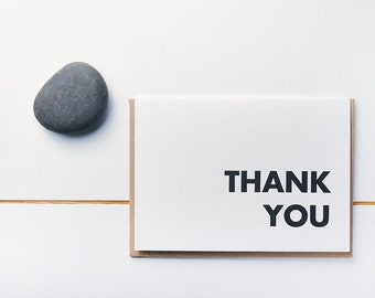 The Simple Thank You - Set of Note Cards Letterpress