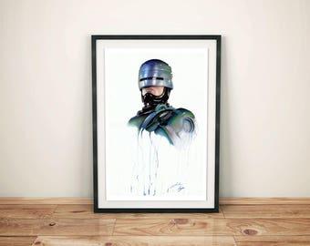 Robocop Giclee Print - A3 size