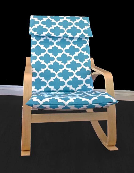 custom ikea po ng cushion slipcover fynn regatta blue. Black Bedroom Furniture Sets. Home Design Ideas