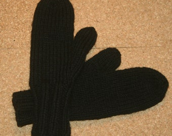 Hand knit Adult Mittens, Extra thick - Extra warm