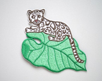 Clouded Leonpard Iron On Patch