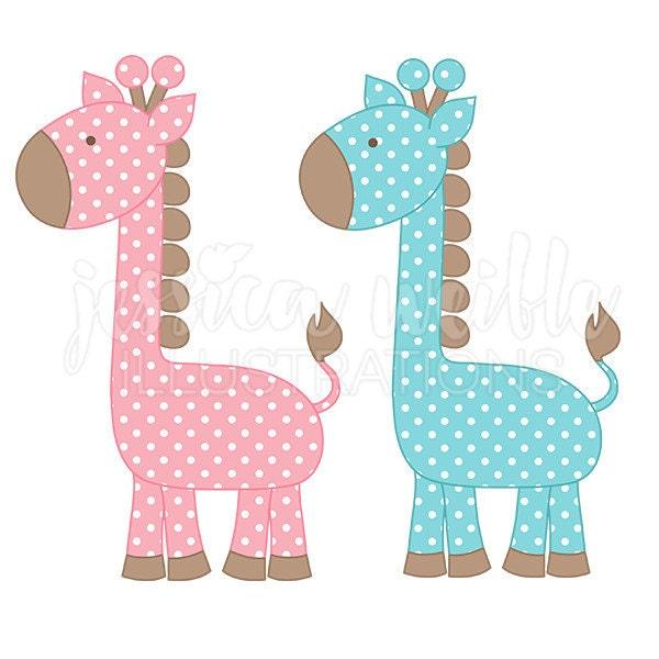 polka dot giraffe cute digital clipart cute giraffe clip art rh etsy com Cute Snake Clip Art Cute Snake Clip Art