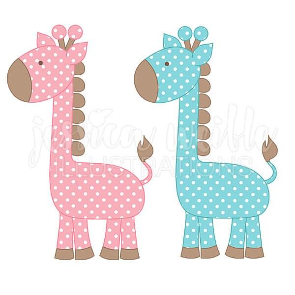 Baby Giraffe Clipart Blue Polka Dot Giraffe Cute...
