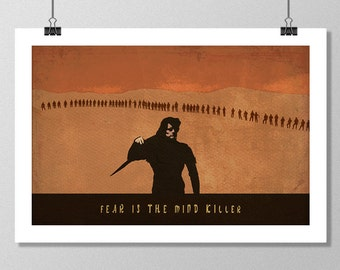 "DUNE Inspired Paul Atreides Minimalist Movie Poster Print - 13""x19"" (33x48 cm)"