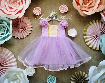 ON SALE!Rapunzel Costume Dress, Halloween Costume, Girl's Birthday Dress, Princess Dress