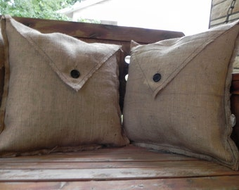 Burlap Pillow Cover (2pk)
