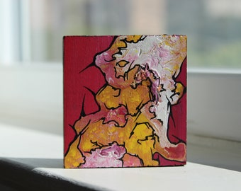 Abstract Mini Painting: Flowers