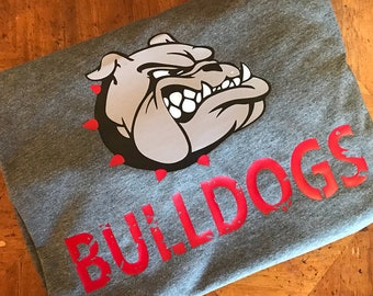 Distressed Bulldogs svg, SVG, DxF, EpS, Cut file, Bulldogs, Svg Sayings, football svg, bulldogs svg , bulldog brother svg