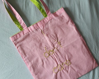 "Shopping Bag-""I love it""-embroidered carrying bag"