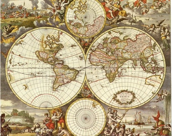 Map, Old world map, Historical maps, Antique world map, 117