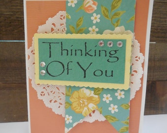 SALE, SALE, SALE Thinking of You Card kit, Premade Thinking of You Cards, Handmade Card Kit, Pre-made Thinking of You Cards,