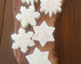 Peppermint Soap, Peppermint Snowflake Soap, Holiday Soap