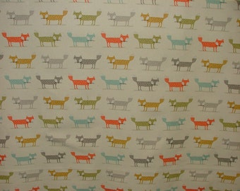 Fryetts Foxy Fox Designer Fabric Curtain Upholstery Craft Quilting Blind Cushion