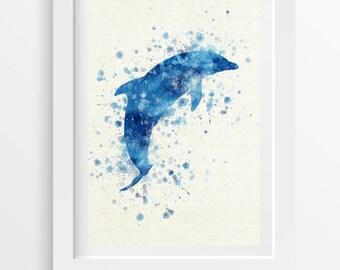 Dolphin Wall Art Poster, Home Decor, Gift Idea