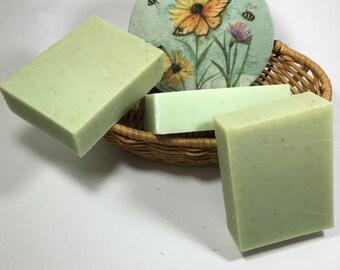 Handmade Refreshing Peppermint Goat Milk Soap