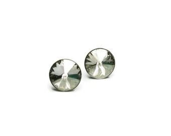 Swarovski Crystal Stud Earrings, Stainless Steel Post Stud, Wedding Crystals, Bridal Crystal Earrings, Brides, Bridesmaids