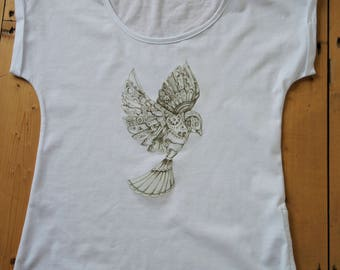 Women's Slouch T-shirt Steampunk -Dove