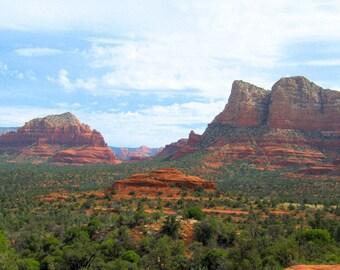 Arizona Photo Print, Arizona Landscape, Sedona Landscape, Courthouse Butte, Twin Butte